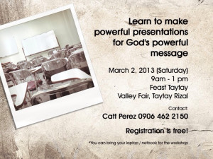 Feast Rizal Powerpoint Workkshop announcement