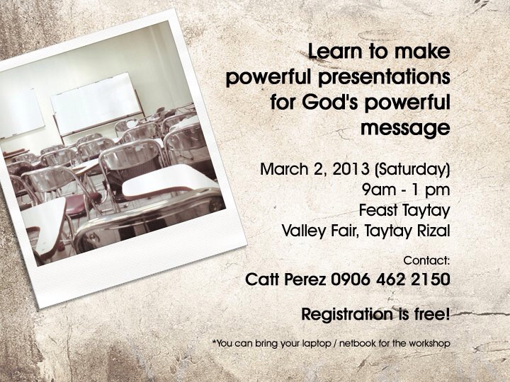 Feast Rizal Powerpoint Workkshop announcement