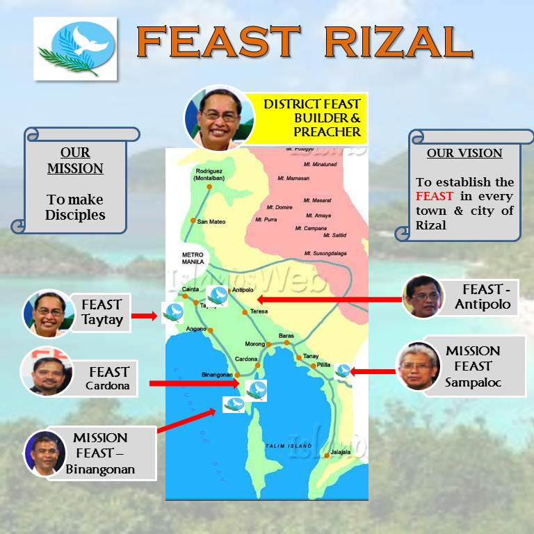 feast rizal map